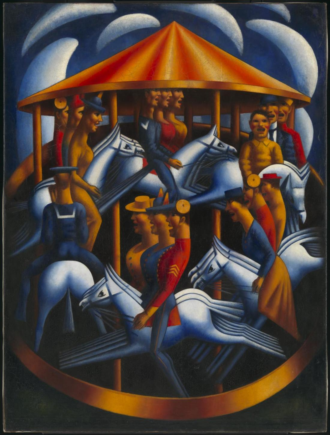 Merry-Go-Round 1916 by Mark Gertler 1891-1939
