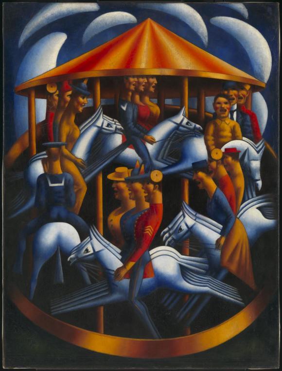 Merry-Go-Round 1916 by Mark Gertler 1891-1939